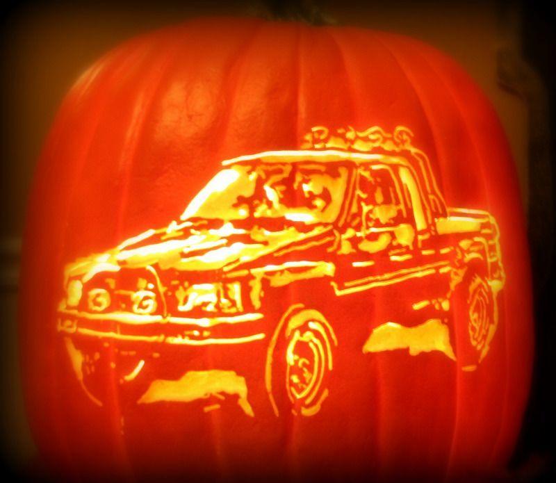 Car Design on Pumpkin